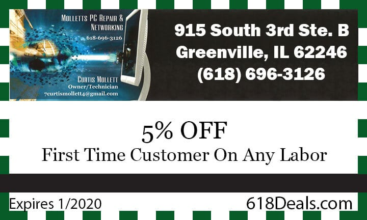 first time customer coupon greenville il